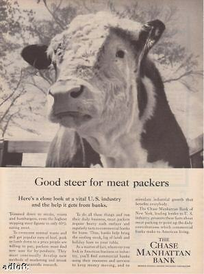 1956 Steer Photo Chase Manhattan Bank print ad