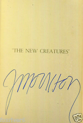 JIM MORRISON / THE DOORS - Rare Signed 'The New Creatures' Card - reprint