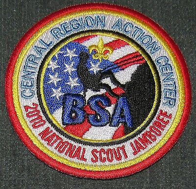 2010 National Jamboree Central Region Action Center Staff Patch Red Border MINT!