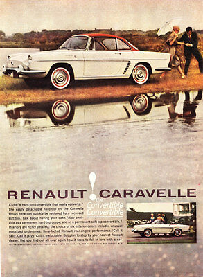 1961 Renault Caravelle Convertible/Hardtop photo promo car print ad