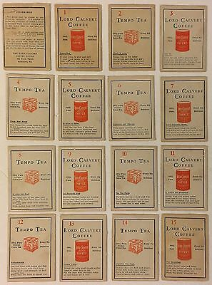 Vintage The Lord Calvert Coffee House & Vesper Tea Card Game APT Lithographic Co