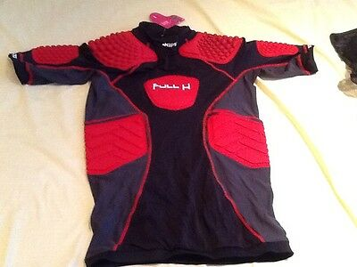 RUGBY size large BODY ARMOUR PROTECTIVE PADDED TOP BNWT BLACK/RED 2018 SEASON