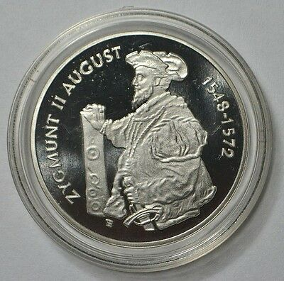 Poland 1996 Zygmunt II August 3/4 profile 10 zlotych silver proof coin RARE