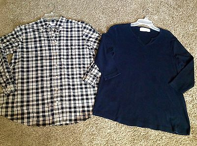 Size Small Career Casual MATERNITY BLOUSE Shirt 2 Pc TOP blouse LOT
