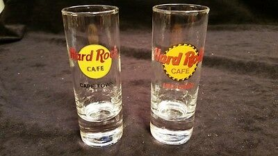 HARD ROCK CAFE Shot Glass set CAPE TOWN & AMSTERDAM