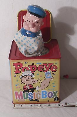 Mattel Popeye The Sailor Tin Jack In The Box Toy