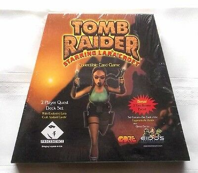 Lara Croft Tomb Raider 2 Player Quest Set Collectible Card Game - Factory Sealed