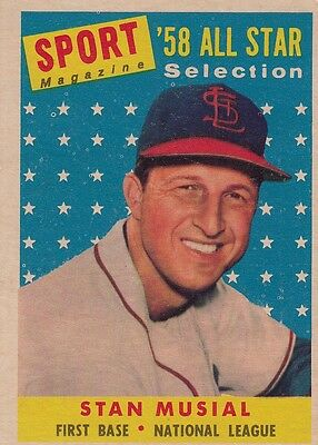 Topps 1958 #476 Stan Musial-Hall of Famer-St. Louis Cardinals-All Star