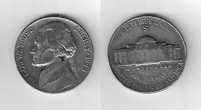 One 1945 S  35% Silver War Nickel in  Great   Condition