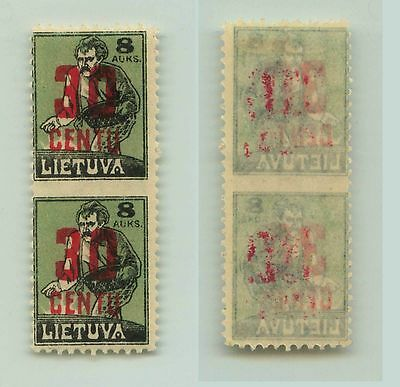 Lithuania, 1922, SC 157, mint, missing perf, pair. f3127