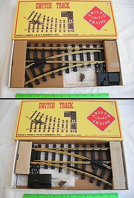 Lot of 2 Aristo Craft ART Manual Switch Tracks, 11210 LH + 11200 RH, #1 G Scale
