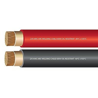2/0 AWG Premium Extra Flexible Welding Cable 600 Volt - EWCS Branded - COMBO