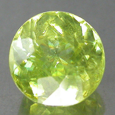 1.61Cts. Shinning~Green Multi Color Spark 100%Natural Sphene,titanite Rd
