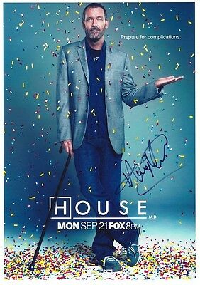 HOUSE MD HUGH LAURIE SIGNED POSTER APPROX 12x8INCHES