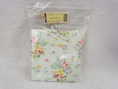 Longaberger Liner:  Scalloped Waste Basket ~ Small Mixed Bouquet ~ New!
