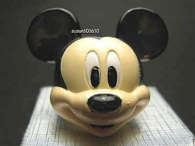 Disney Jewelry Mickey Mouse Black Plastic Big Cute Ring
