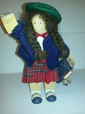 1994 Lizzie High Wooden Doll:  Christine Bowman Report Card with Tag