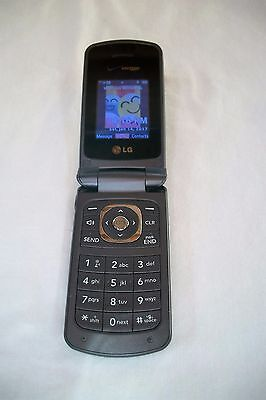 Lg Vx5500 - Gray (Verizon) Flip Cell Phone With Charger - Works