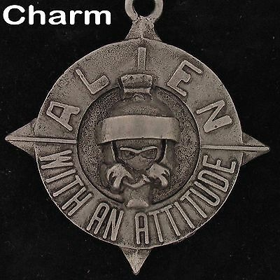 CHARM Marvin The Martian WARNER BROS LOONEY TUNES Pewter STAR WB STORE 4170