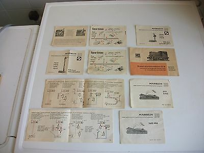 Marklin Model Railway Booklets And Guides (10) Ho/n Gauge Railway Accessories