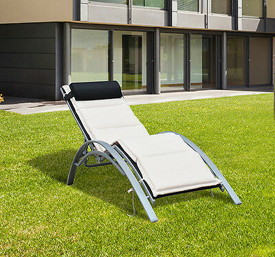adjustable chaise lounge chair sun lounger patio outdoor furniture recliner - Chaise Outdoor Lounge Chairs