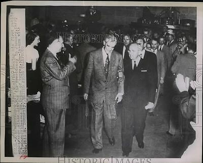 1953 Press Photo Former President Harry Truman & Mo Governor Phil Donnelly