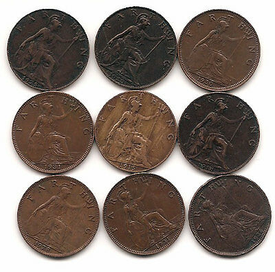 British Coins King George V farthings.