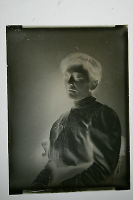large glass plate negative Edwardian studio  portrait
