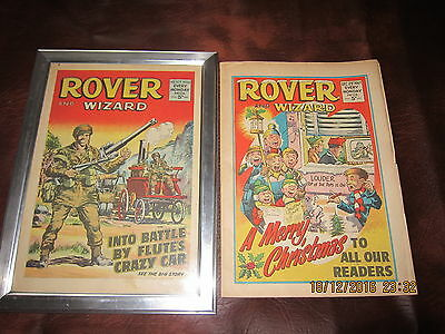 Rover And Wizard Comic- Complete - Used But Still Good.christmas 1967.