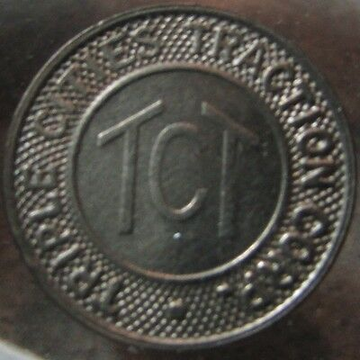 1946 Triple Cities Traction Corp Binghamton, NY Transit Trolley Token - New York