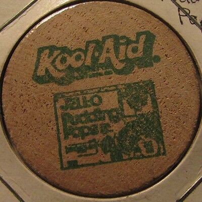 Vintage Kool-Aid Jell-O Pudding Pops Wooden Nickel - Token Jello