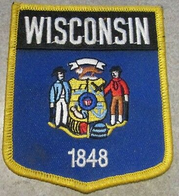 Vintage Wisconsin State Flag Patch - WI Wisc.
