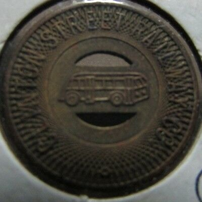 1949 Clinton, IA Street Railway Co. Transit Bus Token - Iowa