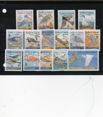 Turks And Cocos Islands 1995 Birds Mnh Set