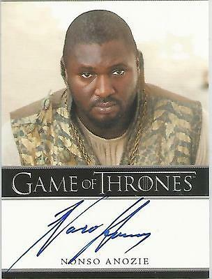 "Game of Thrones Season 3 - Nonso Anozie ""Xaro Xhoan Daxos"" Autograph Card"