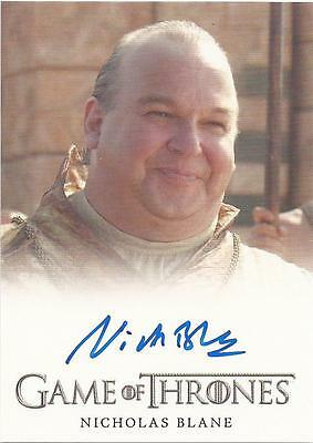 "Game of Thrones Season 3 - Nicholas Blane ""Spice King"" Autograph Card"