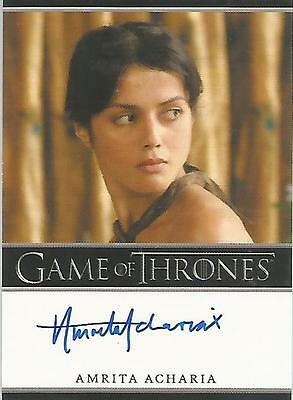 "Game of Thrones Season 2 - Amrita Acharia ""Irri"" Autograph Card"