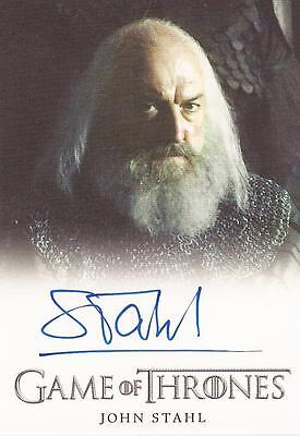 "Game of Thrones Season 4 - John Stahl ""Rickard Karstark"" Autograph Card"