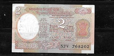 INDIA #79h 198 UNC MINT OLD 2 RUPEE CURRENCY BANKNOTE BILL NOTE PAPER MONEY