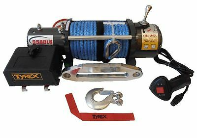 Raptor 4x4 Tyrex Winch 9500 12V Synthetic Rope Off Road Recovery Winching