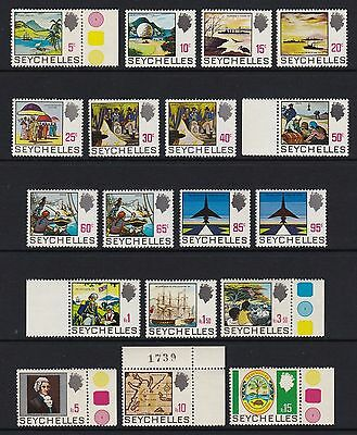 Seychelles 1969 set of 18 - unmounted mint