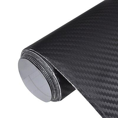 #sNew Carbon Fiber Vinyl Car Film Car Sticker Vehicle Decal 3D Balck 152 x 500cm