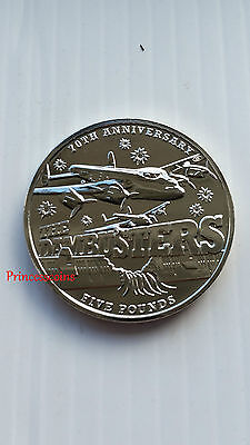 2013*unc*bailiwick Of Guernsey 70Th Anniversary Of Wwii Dambusters £5 Five Pound