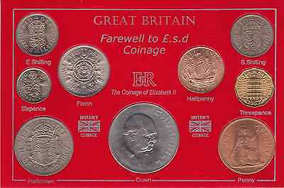 1967 Uncirculated Farewell to £.s.d. Coinage Coin Set 50th Birthday Gift