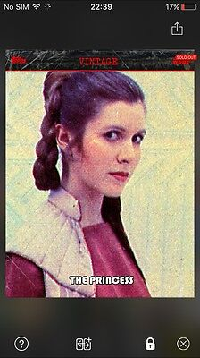 Topps Star Wars Card Trader VINTAGE THE PRINCESS Digital 2500cc Rare Sold Out