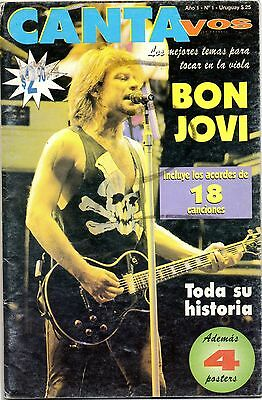 Bon Jovi Ultra Rare Songbook Argentina Poster Included