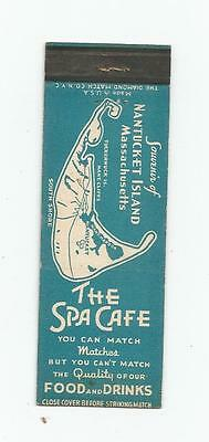 The Spa Cafe   Matchcover  Nantucket Island, Massachusetts