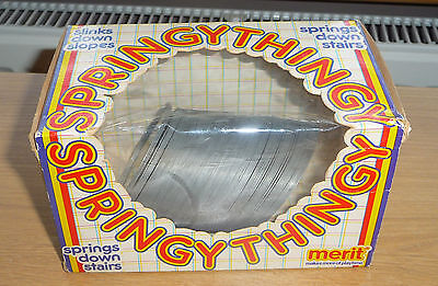 Vintage Collectable Original 1980's,80's Merit Springy Thingy Metal Slinky Toy.