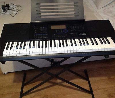 Casio CTK 6200 Keyboard with Stand and Original Box - Collection Only