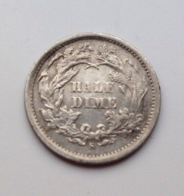 1872 S Seated Liberty Half Dime Coin